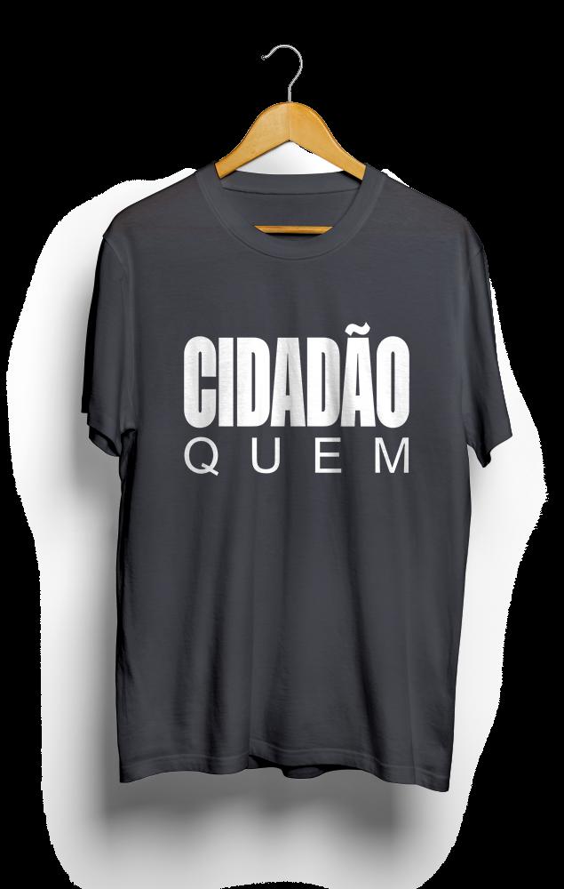 Foto do produto Camiseta Cidadão Quem | Cinza Chumbo